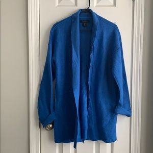 TAHARI blue oversized cardigan size Medium